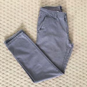 GAP KHAKIS Lived In Slim Fit Grey Khaki